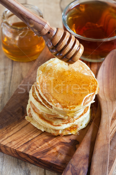 Pancakes with honey Stock photo © Karaidel