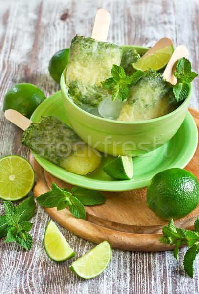 Lime-mint popsicles Stock photo © Karaidel