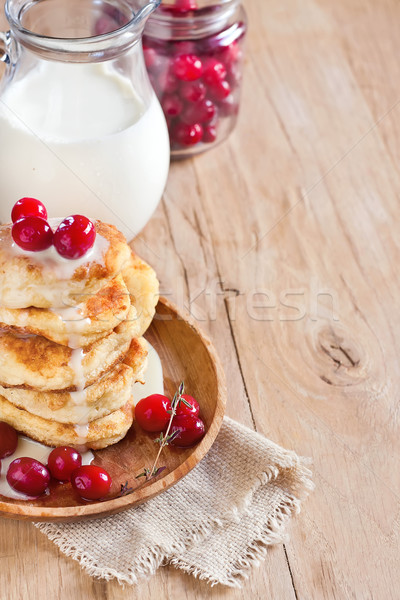 Russian quark pancakes background Stock photo © Karaidel