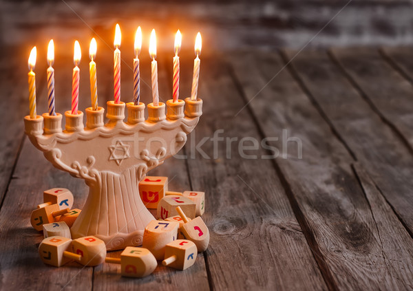 Hannukah background Stock photo © Karaidel