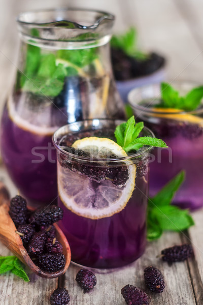 Stock photo: Mulberry lemonade