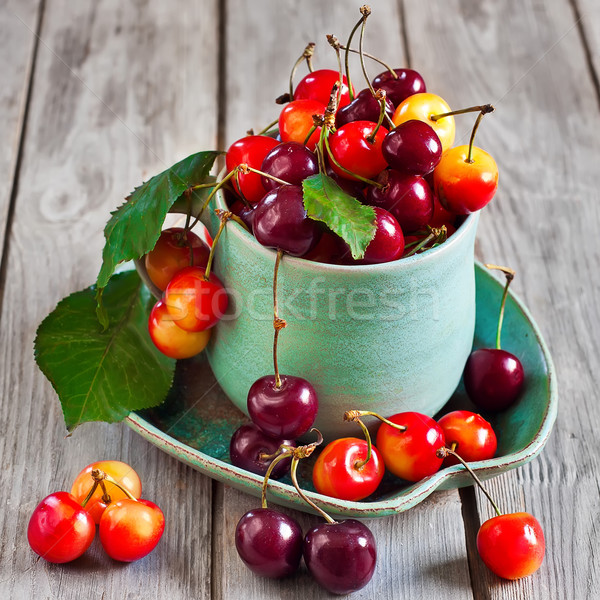 Cherry in a cup Stock photo © Karaidel