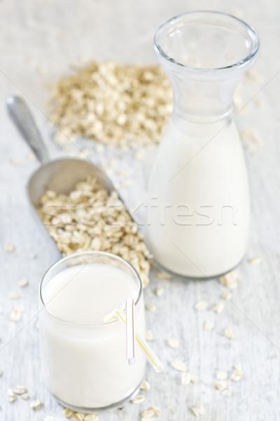 Fatto in casa avena latte tradizionale alimentare vetro Foto d'archivio © Karaidel