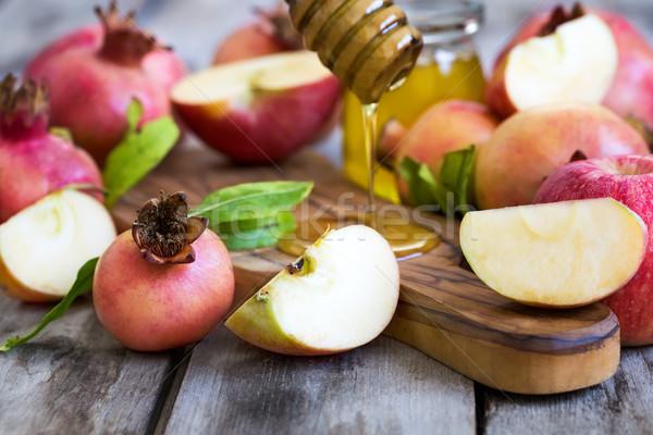 Semboller elma nar bal tatil yılbaşı Stok fotoğraf © Karaidel