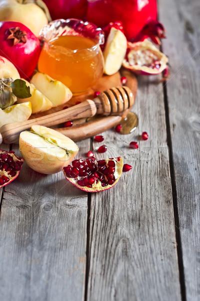 Grenade pommes miel pomme traditionnel alimentaire Photo stock © Karaidel