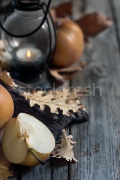 Asiático peras lanterna cair folhas maduro Foto stock © Karaidel
