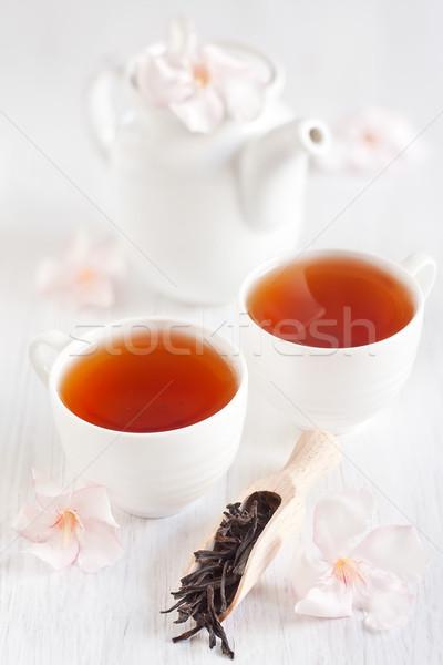 Oolong thee schep theepot licht steeg Stockfoto © Karaidel