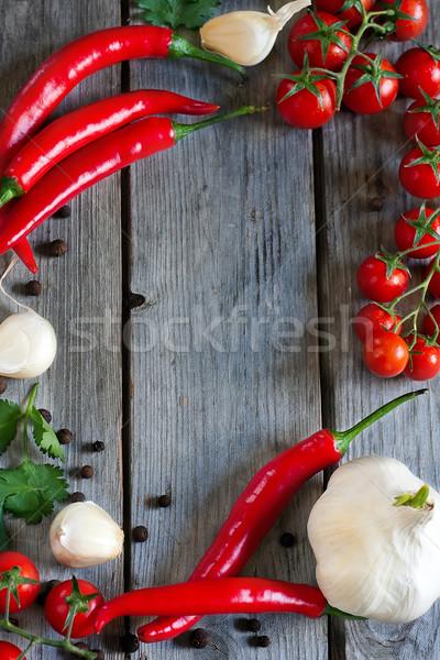 Chili, tomato and garlic Stock photo © Karaidel