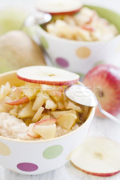 Manzanas tradicional avena atención selectiva alto clave Foto stock © Karaidel