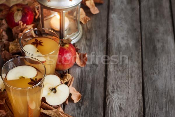 ホット リンゴ サイダー シナモン スパイス 秋 ストックフォト © Karaidel