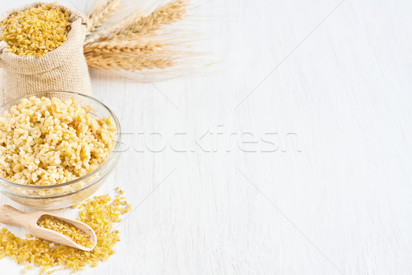 Bulgur background Stock photo © Karaidel