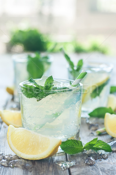 Chilled mint lemonade Stock photo © Karaidel