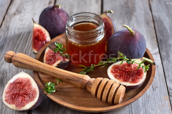 Figs and honey Stock photo © Karaidel