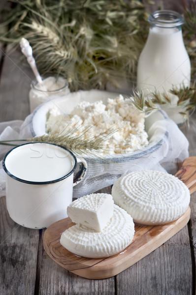 Peynir süt süzme peynir buğday Stok fotoğraf © Karaidel