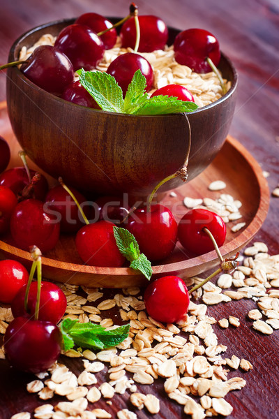 Oat flakes with cherry Stock photo © Karaidel