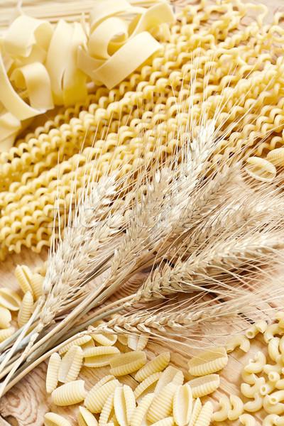 Tészta magvak keverék köteg búzaszemek szelektív fókusz Stock fotó © Karaidel