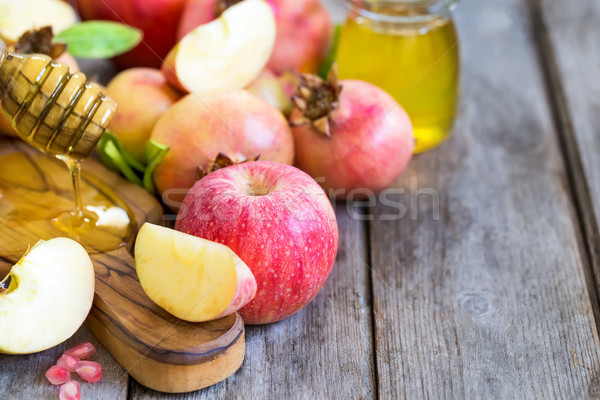 Rosh Hashana symbols background Stock photo © Karaidel