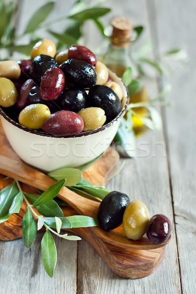 Mixed olives Stock photo © Karaidel