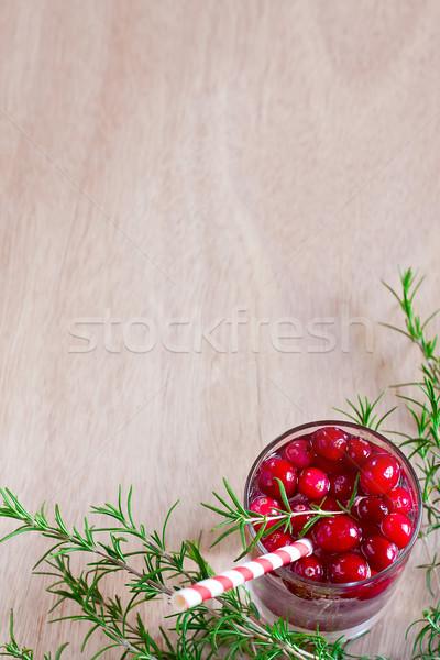 Cranberry lemonade background Stock photo © Karaidel