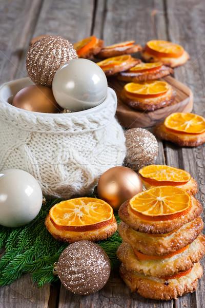 Navidad cookies mandarina decoración Foto stock © Karaidel