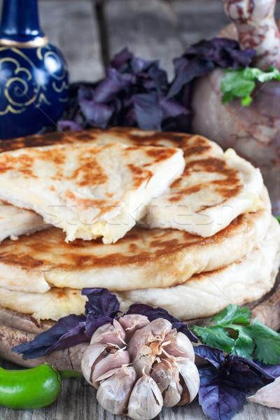 Tradicional recheado queijo madeira restaurante café da manhã Foto stock © Karaidel