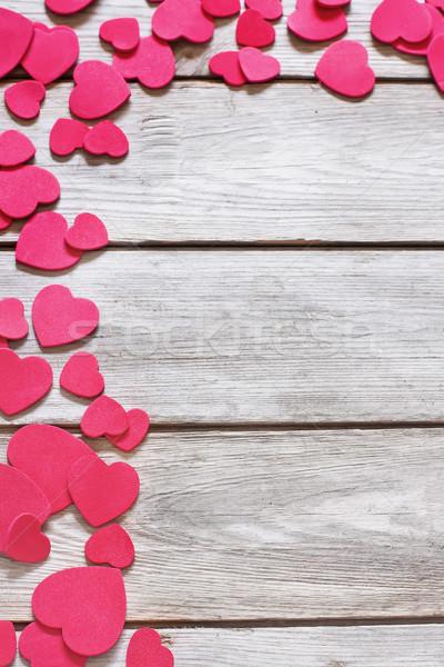 Serca kopia przestrzeń starych czerwony serca Zdjęcia stock © Karaidel