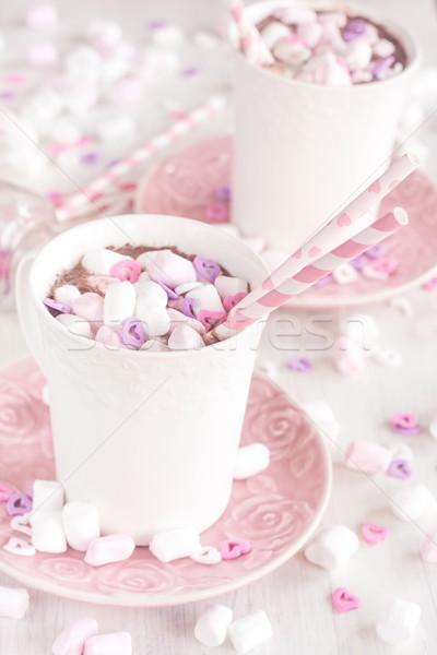 Hot chocolate with marshmallow Stock photo © Karaidel