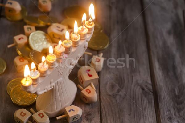 Vakantie symbolen houten exemplaar ruimte achtergrond ruimte Stockfoto © Karaidel