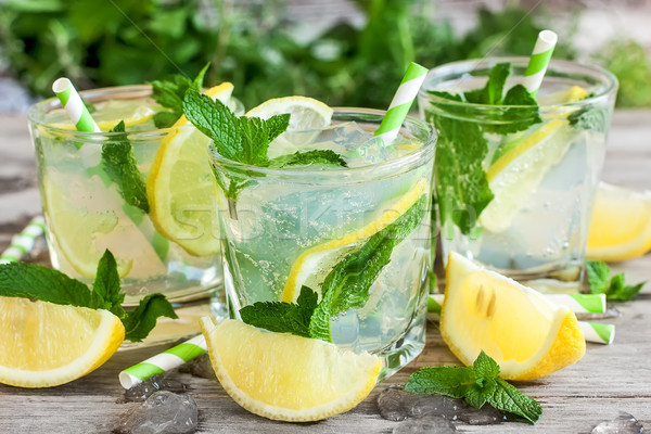 Nane limonata yaprakları taze limon gıda Stok fotoğraf © Karaidel