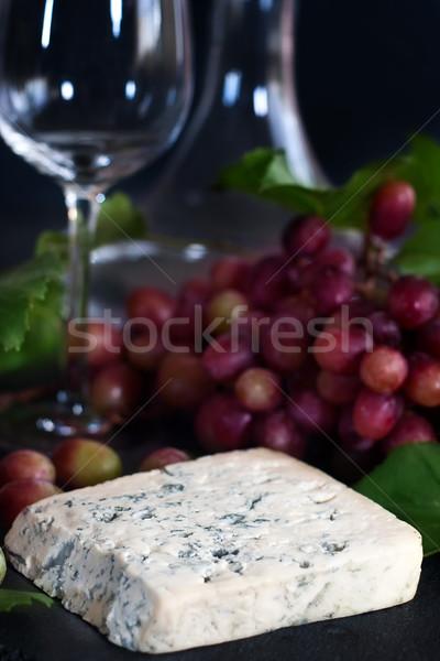 ブルーチーズ ブドウ 赤 黒 食品 木材 ストックフォト © Karaidel