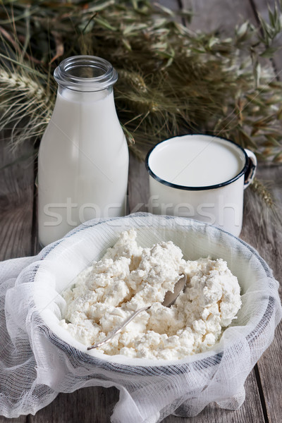 Dairy products and grains Stock photo © Karaidel