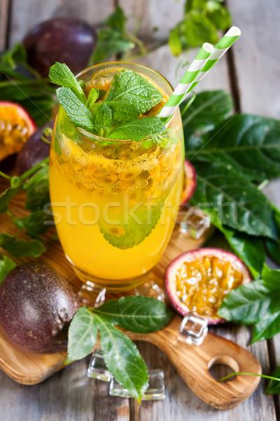 Passionfruit lemonade Stock photo © Karaidel
