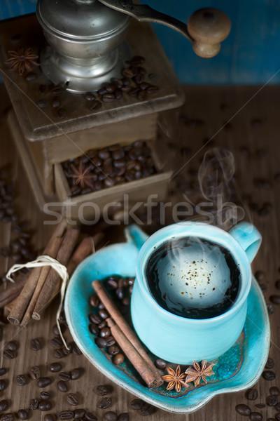 Café edad molino taza canela estrellas Foto stock © Karaidel