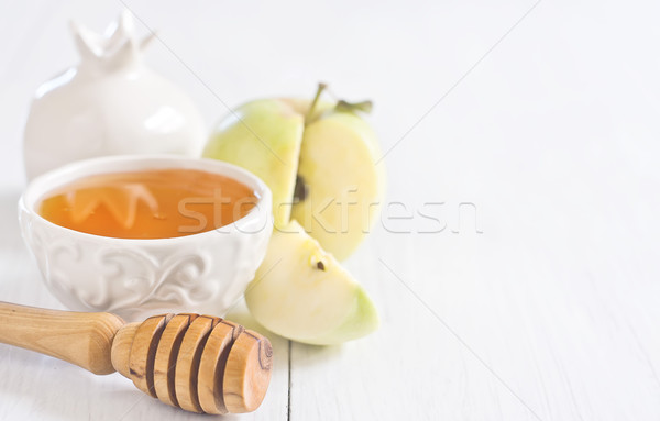 Apple and honey background Stock photo © Karaidel