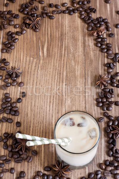 Buz kahve gıda cam yaz süt Stok fotoğraf © Karaidel