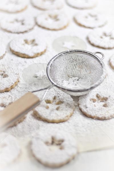 Geleneksel İtalyan kurabiye şeker toz gıda Stok fotoğraf © Karaidel