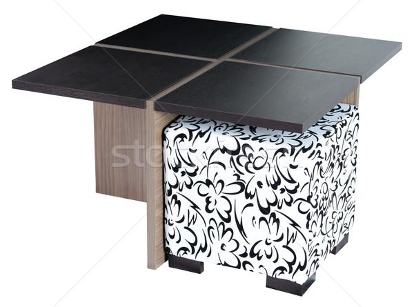 Asztal vágási körvonal fa asztal fehér terv otthon Stock fotó © karammiri