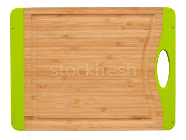 Konyha kellékek vágási körvonal főzés szerszámok fehér Stock fotó © karammiri