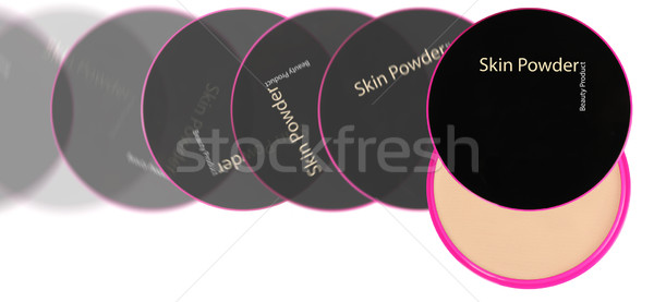 Kozmetika kompakt por tok termék kezelés Stock fotó © karammiri