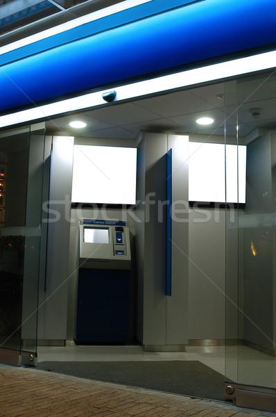 Bank gép pénzügyi automatikus pénz kártya Stock fotó © karammiri
