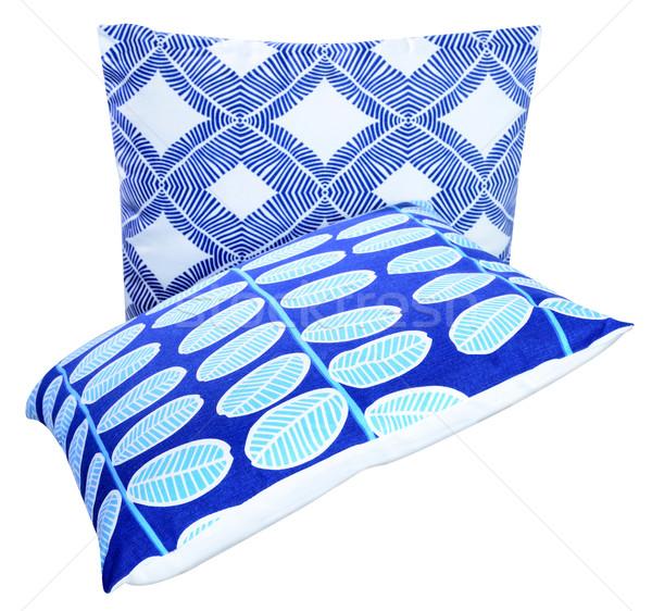 Párna puha fehér ágy szövet ruha Stock fotó © karammiri