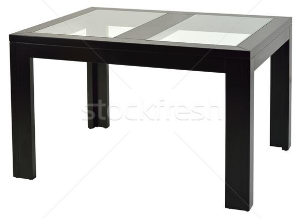 Stock fotó: Asztal · vágási · körvonal · fa · asztal · fehér · terv · stílus