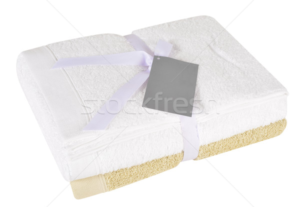 Bath towels. Clipping path Stock photo © karammiri