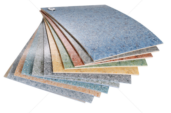 Linoleum swatches. Isolated Stock photo © karammiri