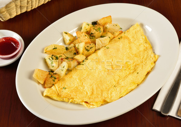 Latin cuisin. Omelet egg. Stock photo © karammiri