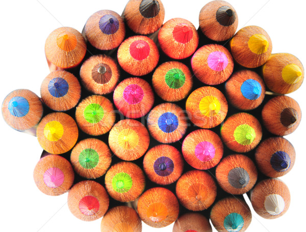 Szín ceruzák rajz festék háttér művészet Stock fotó © karammiri