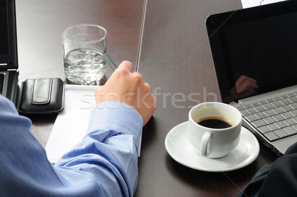 üzlet tevékenységek cégvezetők tárgyaló iroda munka Stock fotó © karammiri