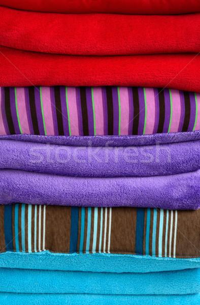Stock fotó: Tárgyak · puha · tekert · felfelé · pléd · bútor