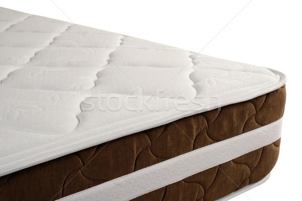Stock fotó: Matrac · vágási · körvonal · ortopéd · ágy · izolált · fehér
