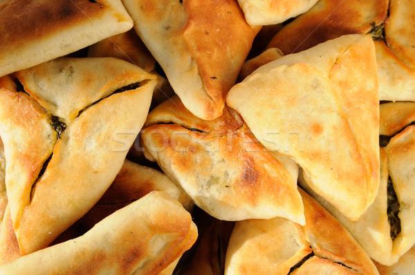 Spinazie vlees taarten voedsel brood olijfolie Stockfoto © karammiri